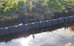 PST-fabriek levert hergebuikt materiaal voor oeverbeschoeiing